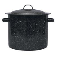 Granite-Ware Enameled Steel 19 Quart Stock Pot With Lid