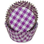 TBK Purple Gingham Baking Cups