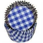 TBK Blue Gingham Baking Cups